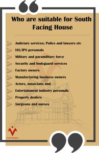 Who are suitable for South  Facing House